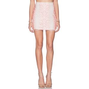 Lovers + Friends Taluca Lace Mini Skirt EUC